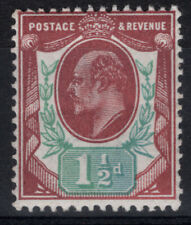 KE VII SG221 1 1/2d Slate-Purple Green VF MNH1902