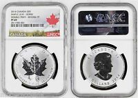 2014 Canada Maple Chinese Lunar Horse Double Privy Silver 1oz NGC PF69  RARE