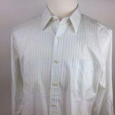 J Crew Haberdashery Shirtings Men's L Long Sleeve White Pin Stripe  #mW
