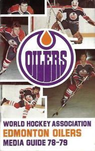 1978-79 Edmonton Oilers Media Guide, Last WHA Year - MINT