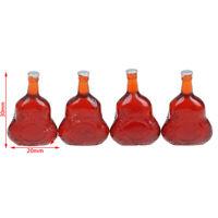 4Pcs 1:12 Dollhouse miniature wine bottles model doll kitchen decor gift . EO