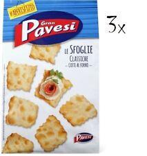 3x Gran Pavesi Sfoglie Classiche aperitivo Crackers gesalzen Salzgebäck 190 gr