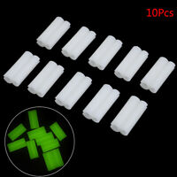 10 Pcs Fishing Glow Fluorescent Stick Clip Used On Fishing Rod Tip