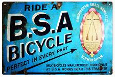 BSA Bicycle Nostalgic Sign