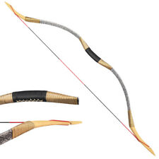 25-55lb Traditional Recurve Bow Mongolian Horse Longbow Handmade Archery Hunting
