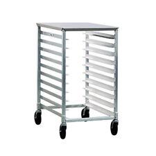 New Age 1311 Mobile Half Size Bun Pan Rack W/ (10) Pan Capacity & Stainless Top