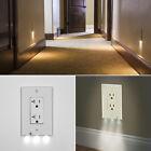 10X Plug Cover LED Night Angel Wall Outlet Face Hallway Bathroom Light US