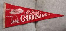 >orig. 1960's ST. LOUIS CARDINALS **Soft Felt Vintage BASEBALL PENNANT**