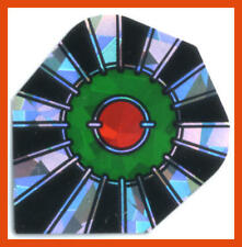 3 Metallic Hologramm 2D  Dart Flights (Sets a 3 St) ca. 100 micron Bull's Eye