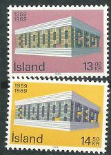 ISLANDIA EUROPA cept 1969 Sin Fijasellos MNH