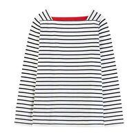 Joules Matilde Square Neck Jersey Top (Cream Stripe)