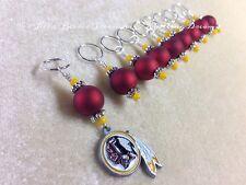 Knitting Stitch Markers (SNAG FREE)- Washington Redskins