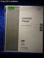 Sony Bedienungsanleitung DVP M50 CD/DVD Player (#1771)