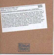 (AF115) Basia Bulat, Run - DJ CD