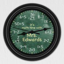 Math Equation Chalkboard Elementary Personalized Decorative Wall  - Teacher Gift