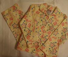 My Michelle Girls 6X Yellow Flannel 2-Piece Pajama Sleepwear Pant Shirt Set NWT
