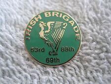 The *Irish Brigade Civil War* Regiment Pin W/ Irish Harp Design Enamel Badge