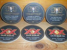 "DOS EQUIS XX ""THE MOST INTERESTING MAN IN THE WORLD"" BEER BAR COASTERS NEW"