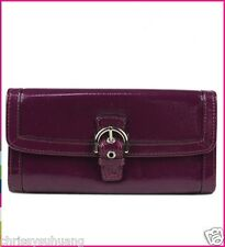 $238 NWT Coach Soho Patent Buckle Slim Envelop Wallet F47785