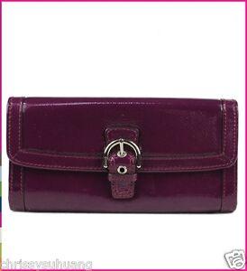 $238 NWT Coach Soho Patent Buckle Slim Envelop Wallet F47785