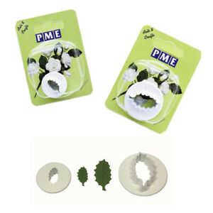 PME HOLLY LEAF Plastic Sugarpaste Cutters for Sugarcraft Cake Icing Decorating