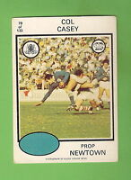 1975 RUGBY LEAGUE CARD  #70.  COL CASEY, NEWTOWN JETS