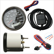 "Car Truck Round 3-3/8"" GPS Speedometer Black Background/Bezel Red LED Backlight"