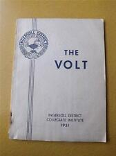 1951 INGERSOLL DISTRICT COLLEGIATE INSTITUTE CANADA THE VOLT YEARBOOK VINTAGE