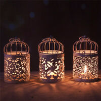 Bird Cage Hollow Candle Holder Tealight Candlestick Hanging Lantern Home Decor