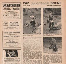 1965 Canadian National Trials Motorcycle Race - 2-Page Vintage Article