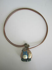 Studio Ghibli My Neighbor Totoro Chuu Totoro Necklace Pendant Wood Jewellery