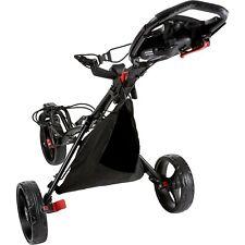 New Black Premium Tour Trek 360 3-Wheel Golf Push Cart Free Ship Only 4 Left