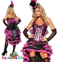 Womens Ladies Deluxe Burlesque Beauty Fancy Dress Halloween Party Costume