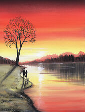 LIMITED EDITION PRINT WITH MOUNT SARAH FEATHERSTONE, SUNSET RIVER WALK, FINE ART