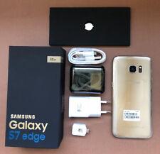 SAMSUNG GALAXY S7 EDGE  32GB G935U ORIGINAL ORO LIBRE  - CAJA + ACCESORIOS