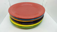 "Lot of 7 Fiesta Dinner Plate 10.5"" Homer Laughlin Fiestaware USA Lead Colors"