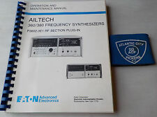 EATON AILTECH 360/380 FREQUENCY SYNTHESIZE OPERATION & MAINTENANCE MANUAL