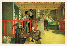NAME DAY: Dressed people in the house by Carl Larsson 2011 Russian postcard