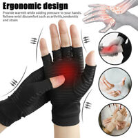 Arthritis Copper Compression Hand Gloves Fit Carpal Tunnel Hand Wrist Support