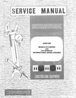 INTERNATIONAL 573 B TD20C TD-20 C Engine Service Manual