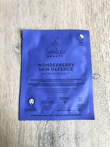 Seoulista Wonderberry Skin Defence Instant Facial Sheet Mask BRAND NEW RRP £10