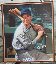 """1989 """" LOU GEHRIG """" ANHEUSER-BUSCH BEER 15"""" x 17"""" NY YANKEE POSTER NEVER HUNG"""