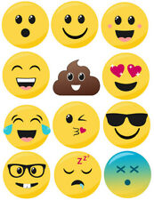 Emoji Wall Stickers - 5 sizes available
