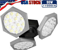 90W E27 LED Garage Light Motion Sensor Deformable Workshop Ceiling Fixture Lamp
