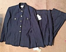 NWTS! JONES NY, LADIES SZ 14/16, NAVY PANT SUIT, LINEN BLEND