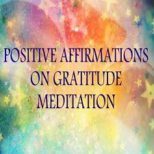 POSITIVE AFFIRMATIONS ON GRATITUDE MEDITATION + RELAXATION & MEDITATION TRACK