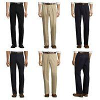 St. John's Bay Men's Pants Classic Fit Khaki Navy Black 30 32 33 34 36 38 40 42