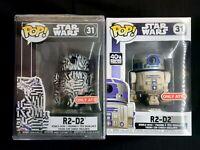 Funko Pop Star Wars R2-D2 Bundle Set [Dagobah, Futura] Target Exclusive BNIB OOS