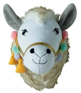 LLAMA WALL HANGING new baby nursery room shower white gold crown gift bedroom