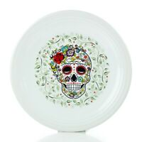 "Fiesta® 11.75"" Chop Plate   SKULL AND VINE - Sugar"